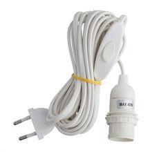 Billede af Bungalow Ledning med fatning E14 - Hvid