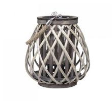 Billede af Chic Antique Denmark Lanterne i flet H: 25 cm - Natur