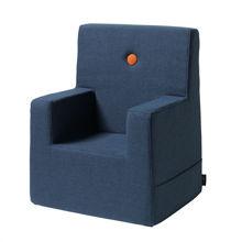 Billede af By KlipKlap Kids Chair XL - Dark blue/orange