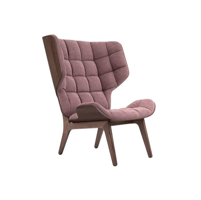 Billede af NORR11 Mammoth Chair Velvet SH: 35,5 cm - Mørkbejdset/Rosewood